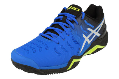 Asics Gel-Resolution 7 Clay Mens Tennis Shoes E702Y 407 - Illusion Blue Silver 407 - Photo 0