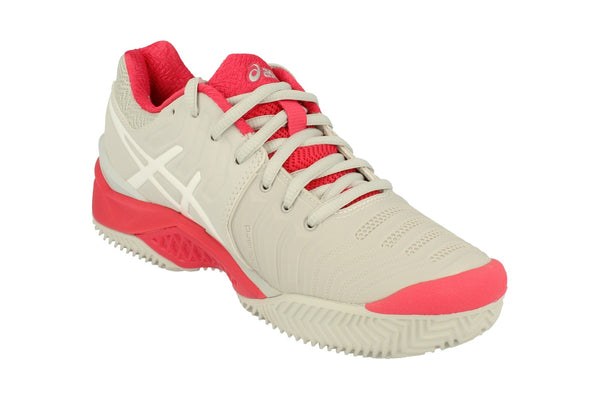 Asics Gel-Resolution 7 Clay Womens Tennis Shoes E752Y Sneakers Trainers  9601 - Grey White Red 9601 - Photo 0