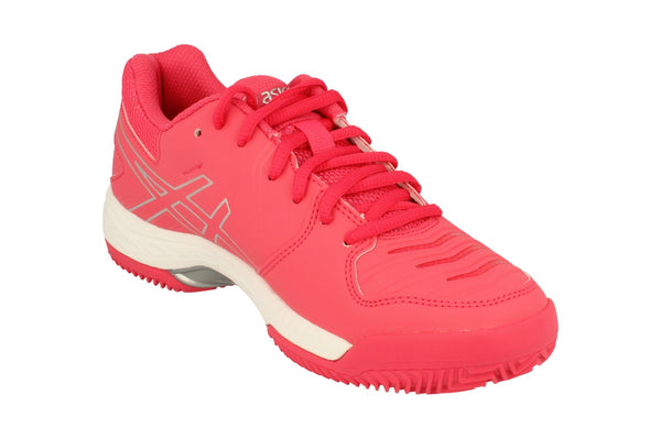 Asics Gel-Game 6 Clay Womens Tennis Shoes E756Y Sneakers Trainers  1993 - Red Silver White 1993 - Photo 0