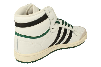 Adidas Originals Top Ten Hi Mens Trainers Sneakers   - White Black Green Ef6364 - Photo 2