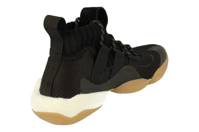 Adidas Pw Crazy Byw Prd Mens Basketball Trainers Sneakers   - Black Gum Eg7733 - Photo 2