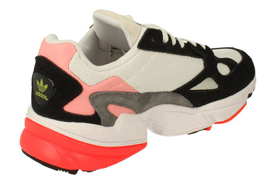 Adidas Falcon Womens Sneakers   - White Black Pink Fv8259 - Photo 2