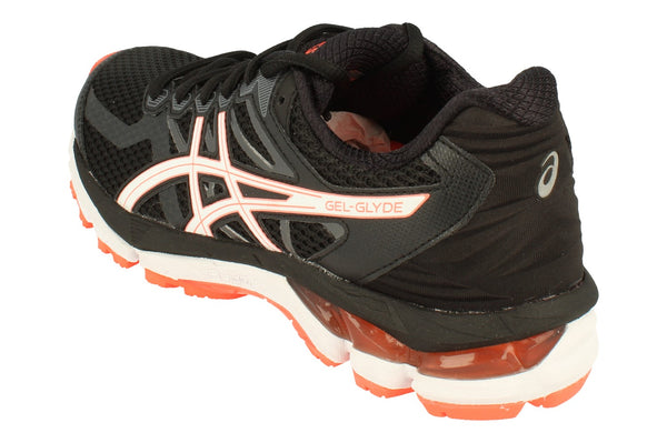 Asics Gel-Glyde Womens T894N  9001 - Black White Flash Coral 9001 - Photo 0