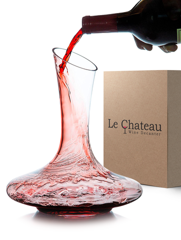 Le Chateau Wine Decanter - 100% Hand Blown Lead-free Crystal Glass