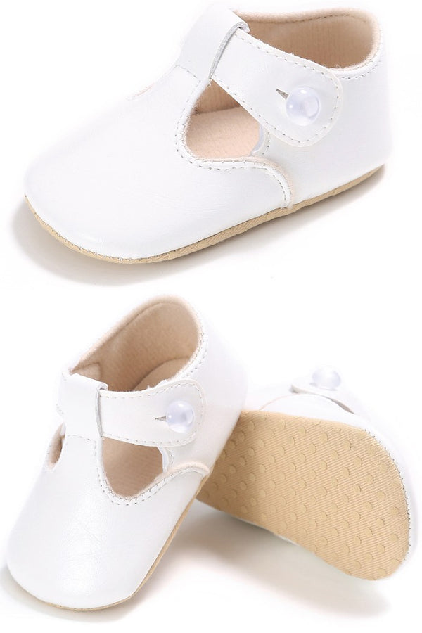 Classic White Leather Shoes