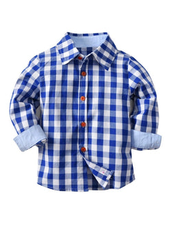 Blue Gingham Button-up