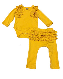 Yellow Ruffle Bottom Set