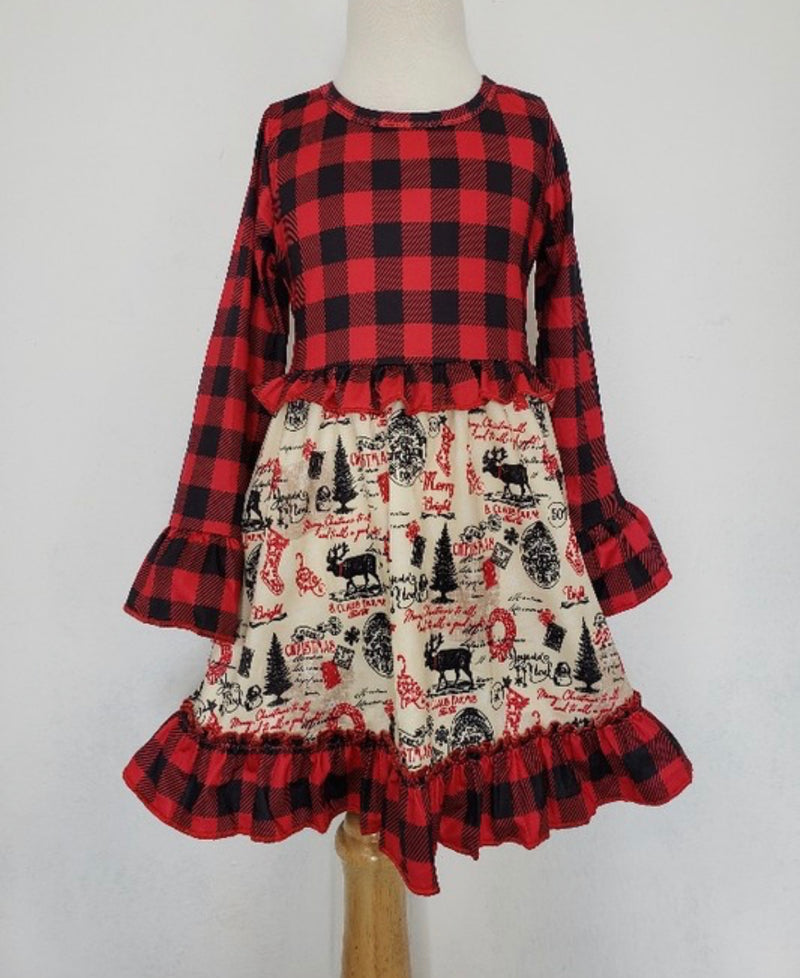 Vintage Christmas Stamp Dress