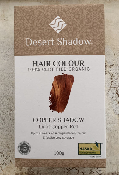 Desert Shadow 100% Certified Organic Hair Dye - Copper Shadow 100g