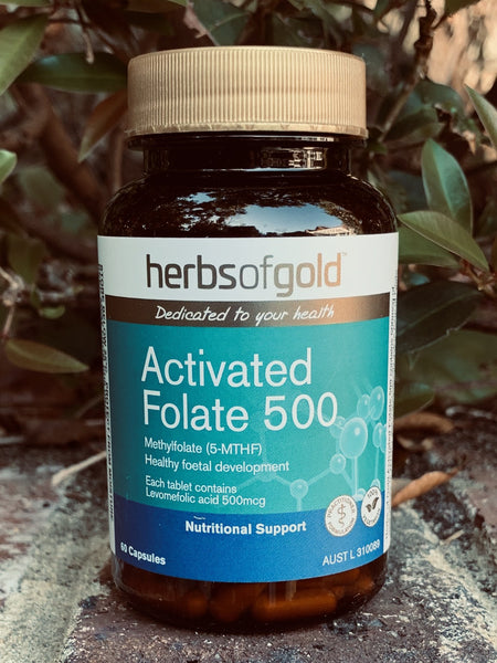 Herbs of Gold™ Activated Folate 500 60 Capsules
