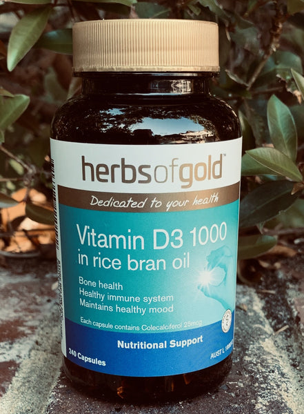 Herbs of Gold™ Vitamin D3 1000 Capsules