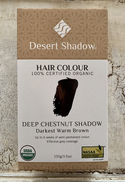 Desert Shadow 100% Certified Organic Hair Dye - Deep Chestnut Shadow 100g