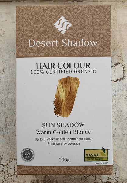 Desert Shadow 100% Certified Organic Hair Dye - Sun Shadow 100g