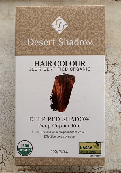 Desert Shadow 100% Certified Organic Hair Dye - Deep Red Shadow 100g