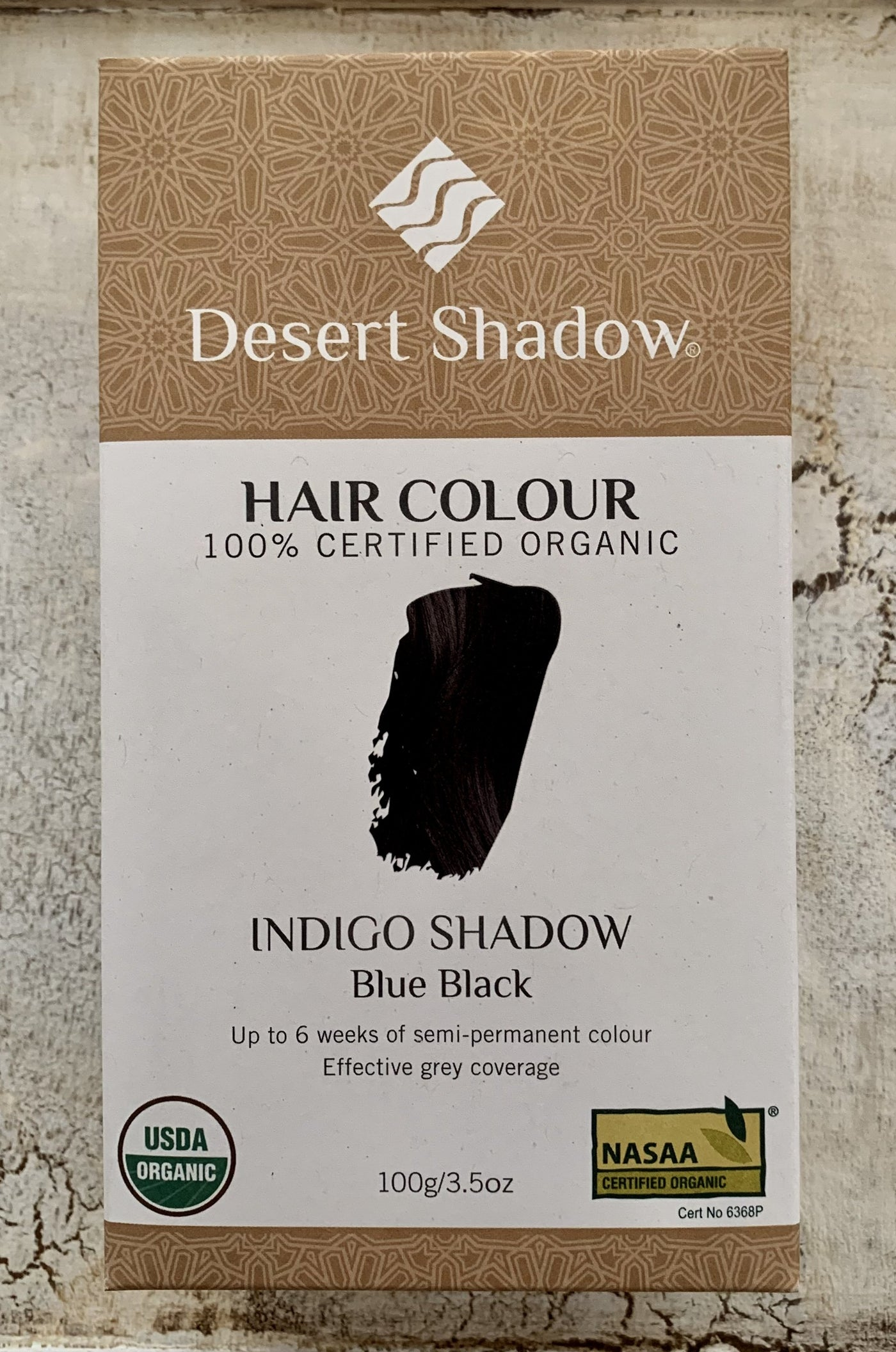 Desert Shadow 100% Certified Organic Hair Dye - Indigo Shadow 100g