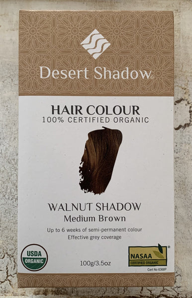Desert Shadow 100% Certified Organic Hair Dye - Walnut Shadow 100g