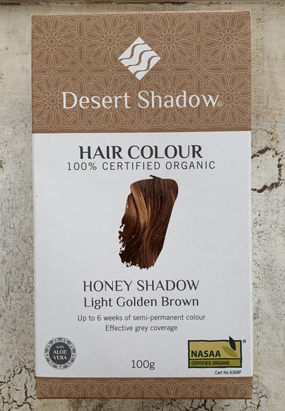 Desert Shadow 100% Certified Organic Hair Dye - Honey Shadow 100g