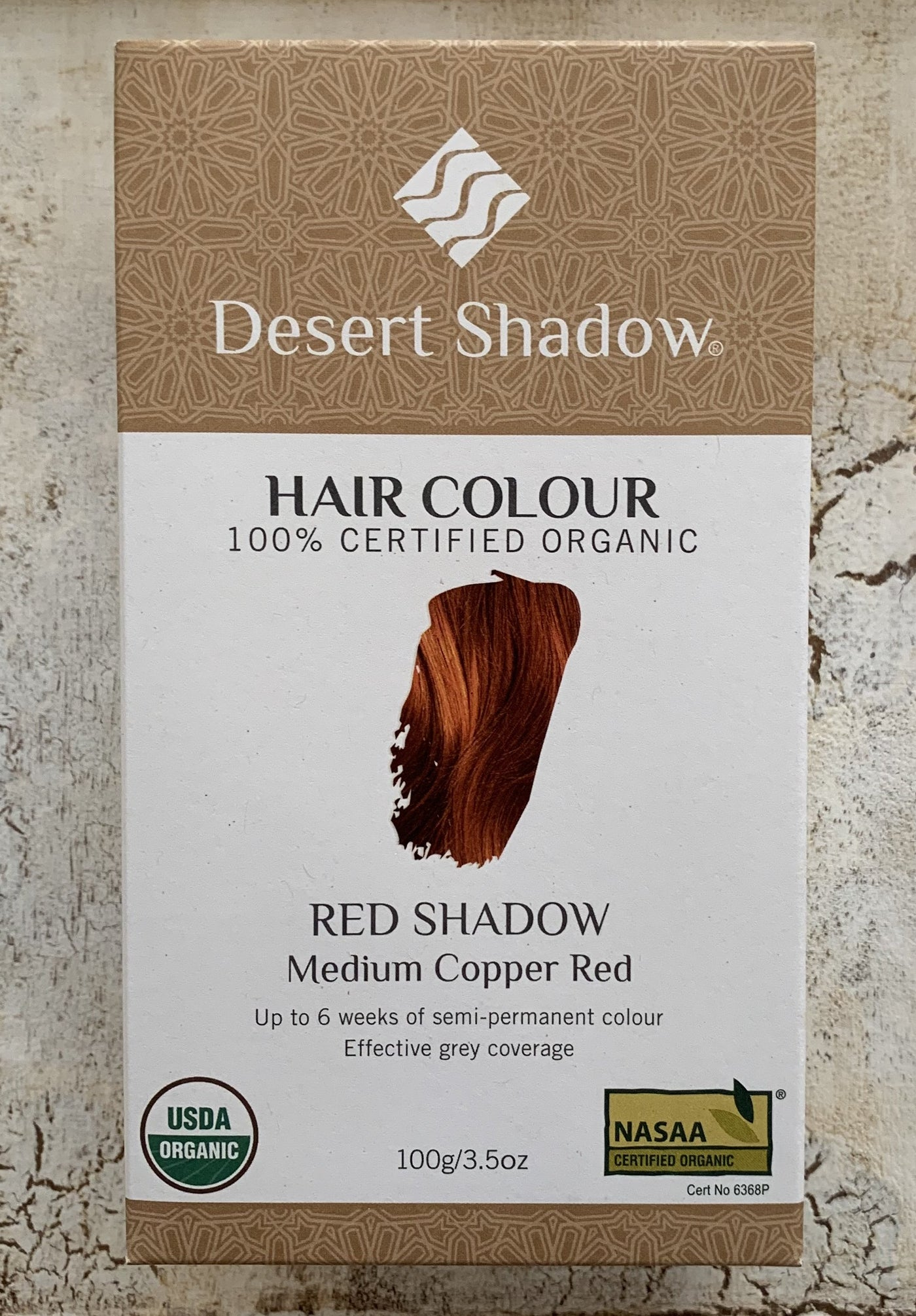 Desert Shadow 100% Certified Organic Hair Dye - Red Shadow 100g