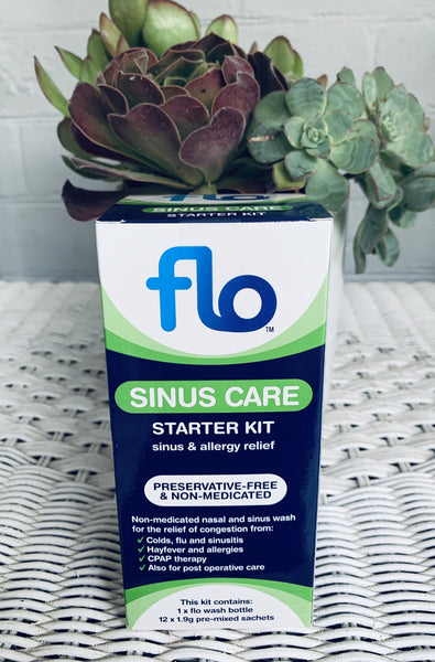 Flo™ Sinus Care Starter Kit - bottle and 12 sachets (Preservative Free)