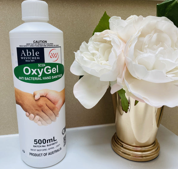 OxyGel Antibacterial Hand Sanitiser 500mL (Alcohol-Free)