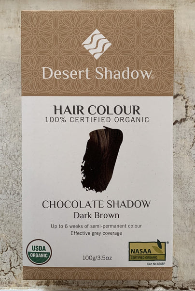 Desert Shadow 100% Certified Organic Hair Dye - Chocolate Shadow 100g