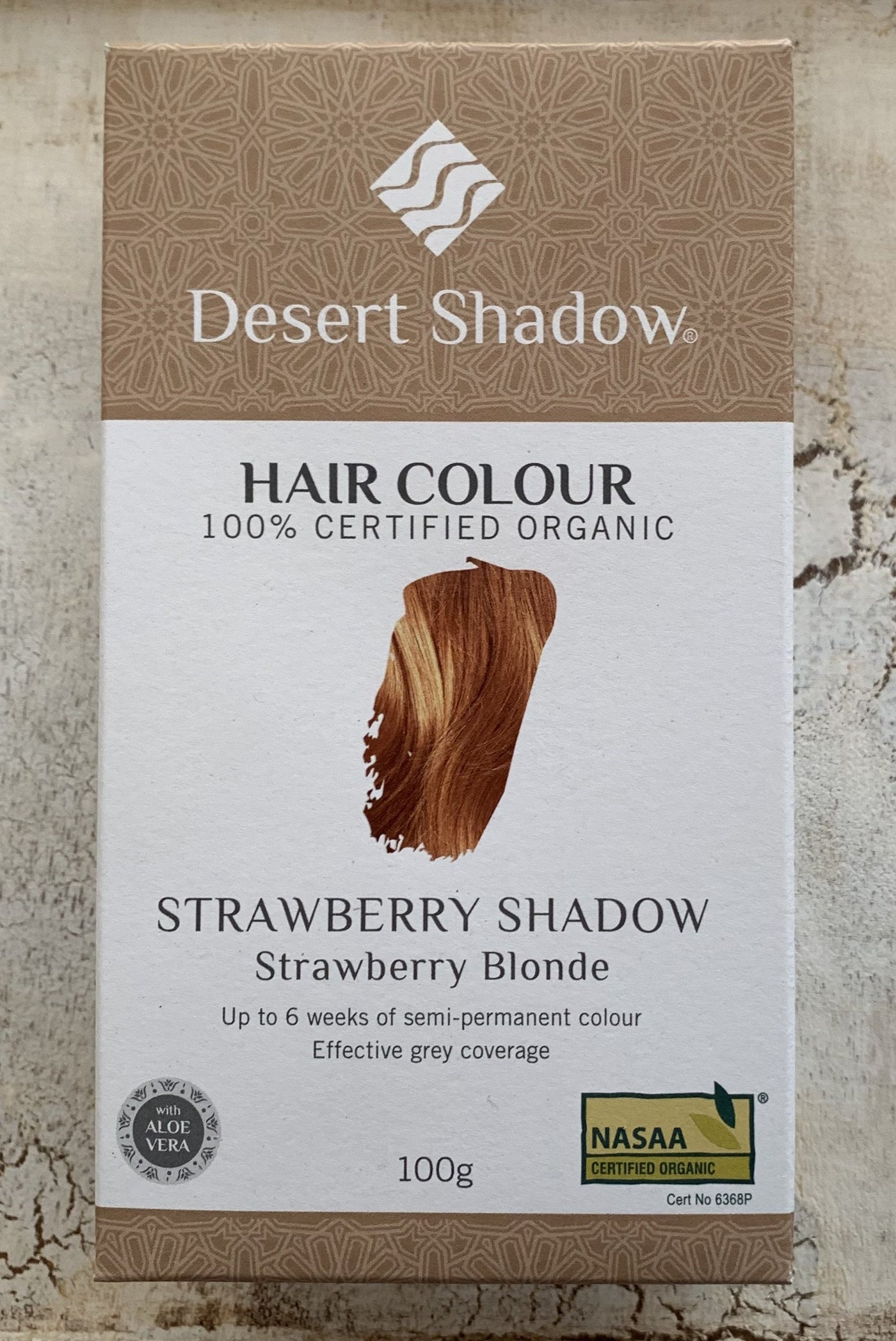 Desert Shadow 100% Certified Organic Hair Dye  - Strawberry Shadow 100g