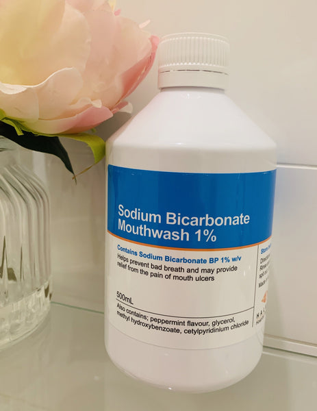 Sodium Bicarbonate Mouthwash 1% w/v Mint flavour