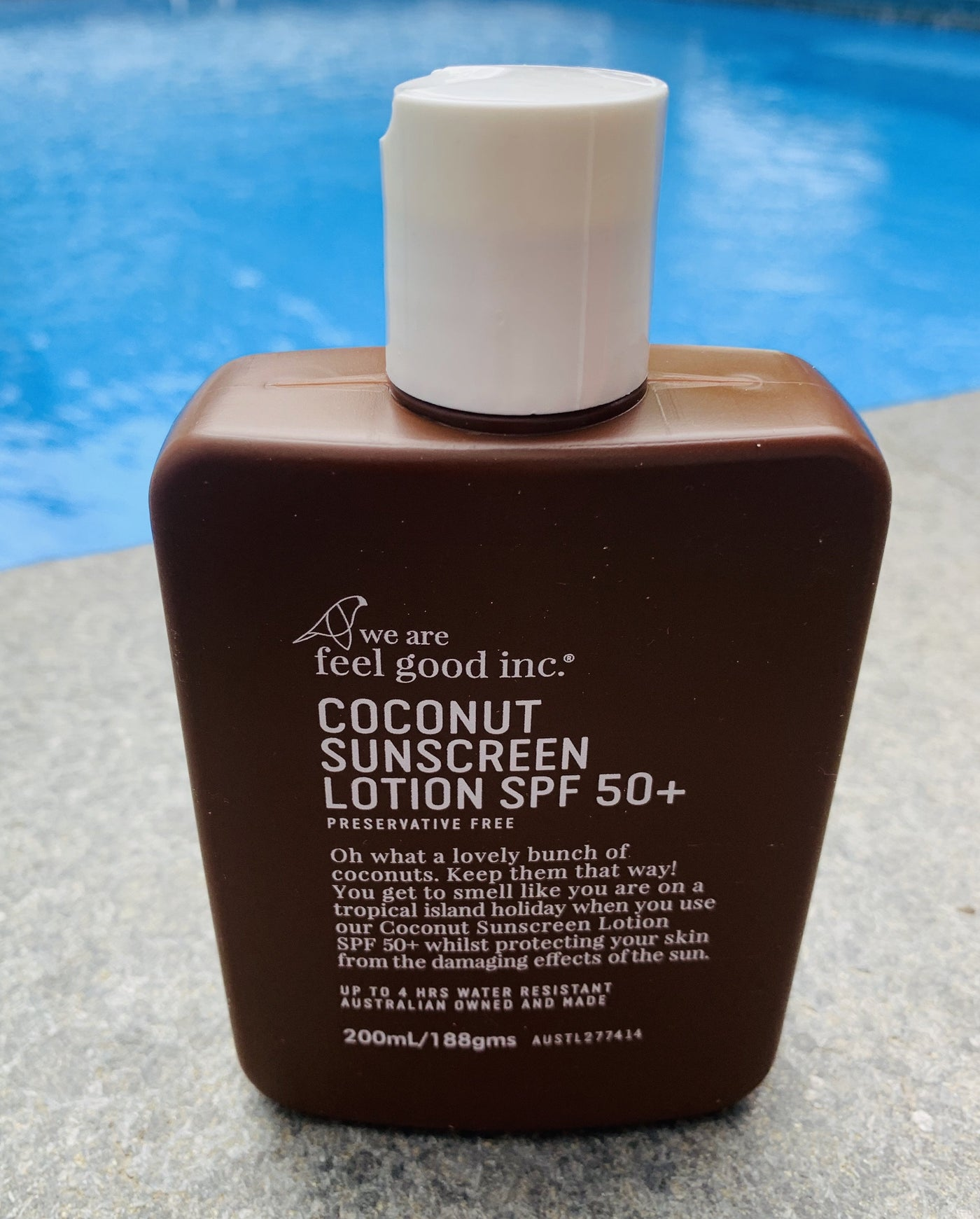 We Are Feel Good Inc. Coconut Sunscreen Lotion SPF 50+ 200mL