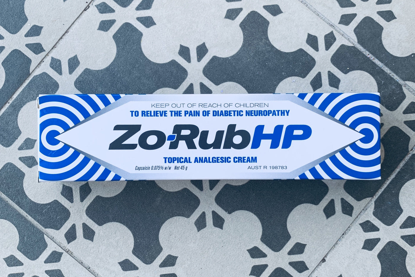 Zo-Rub HP 0.75% Topical Analgesic Cream 45g tube
