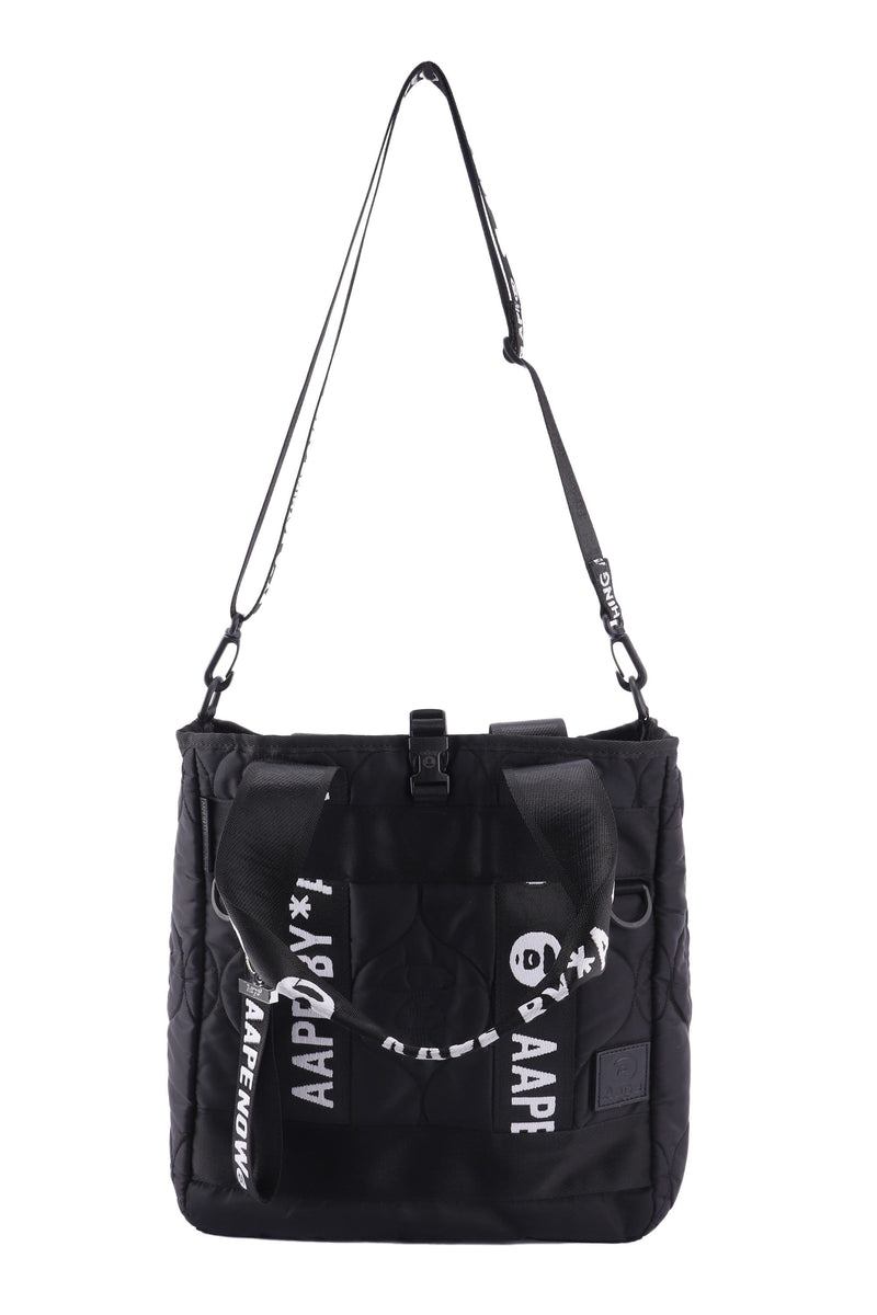 Attic House Bags AAPE BLACK COLOR NYLON TOTE BAG A-0128-AAPE