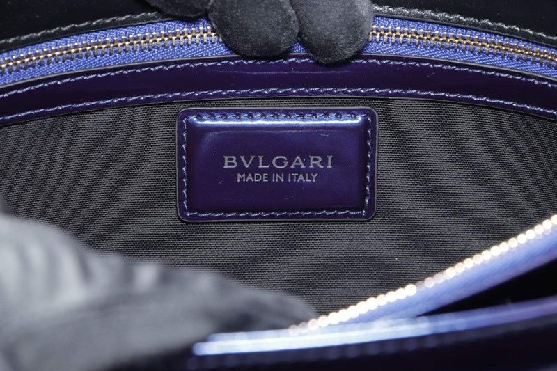 Attic House Bags BVLGARI SERPENTI FOREVER ELECTRIC BLUE COLOR PATENT LEATHER BAG AHC-3836-BVL