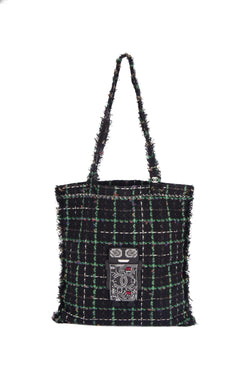Attic House Bags CHANEL ROBOT TWEED TOTE H-682-CHA