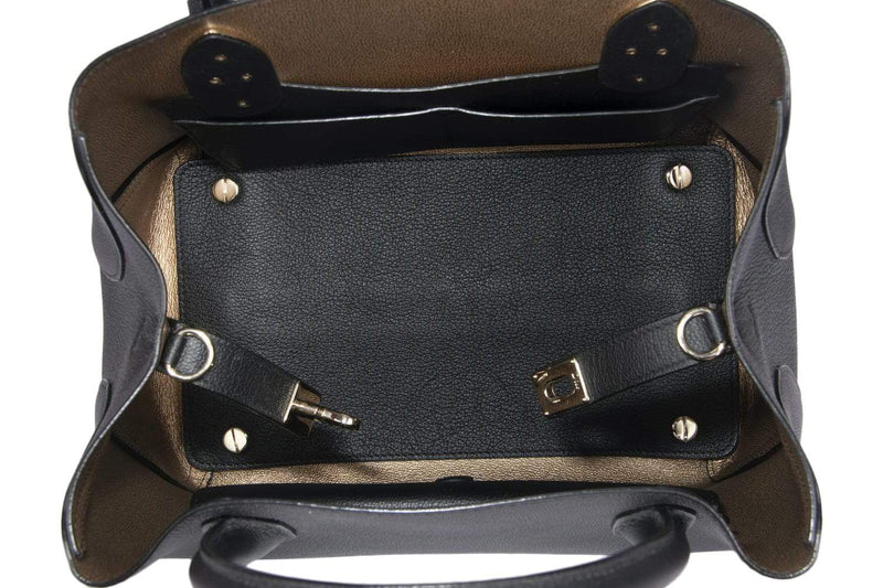 Attic House Bags CHRISTIAN DIOR OPEN BAR SMALL SIZE BLACK COLOR GRAINED CALF LEATHER 2 WAY USE BAG AHC-4329-CD