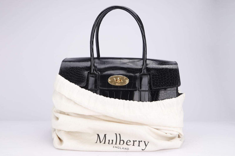 Attic House Bags Mulberry Bayswater Croco Print Leather A-0364-MUL