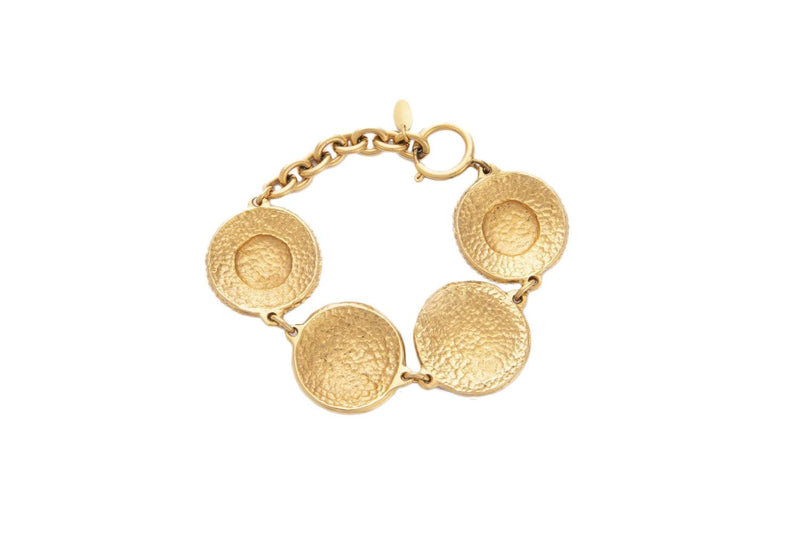 Attic House Vintage Accessories Chanel Vintage Gold Plated Bracelet H-778-CHA