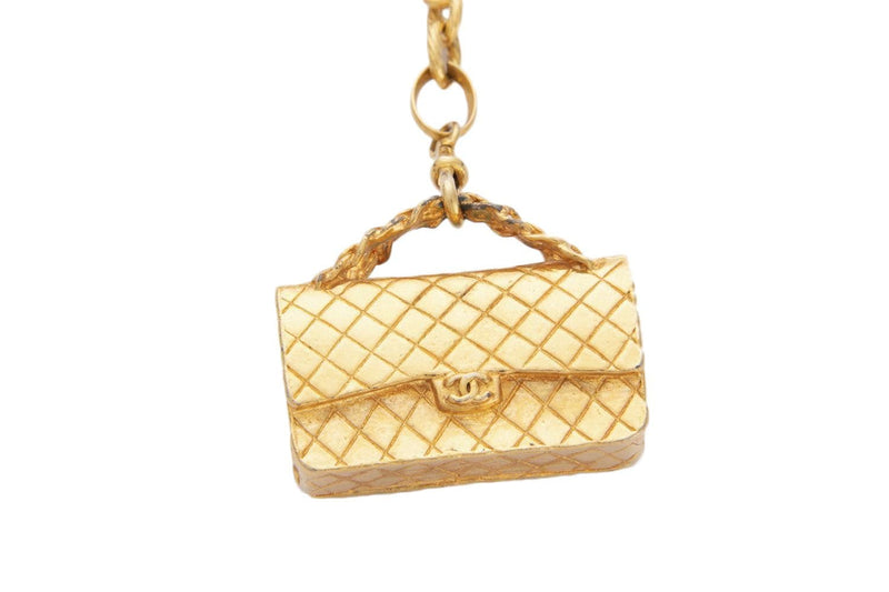 Attic House Vintage Accessories Chanel Vintage with Gold Tone 2.55 Bag Hat Motif Pendant Chain Necklace H-844-CHA