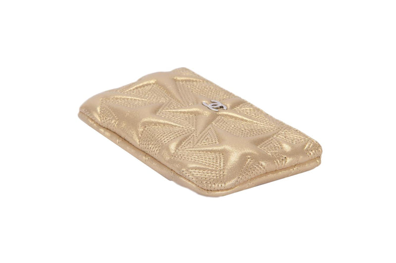 Attic House Wallet Chanel A70100 Star Embossed Mini Pouch in Metallic Gold AHC-4839-CHA
