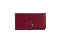 Attic House Wallet Hermes Bearn Wallet Rouge Dark Epsom Leather AHC-4205-HER