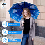 Rain-Mate Compact Travel Umbrella (Blue Sky)