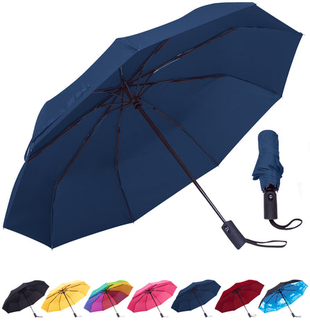 Rain-Mate Compact Travel Umbrella (Navy Blue)