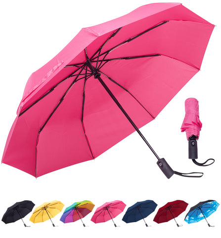 Rain-Mate Compact Travel Umbrella (Pink)