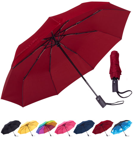 Rain-Mate Compact Travel Umbrella (Red)