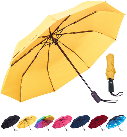 Rain-Mate Compact Travel Umbrella (Yellow)