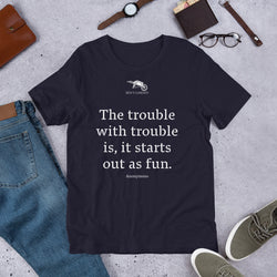 The Trouble with Trouble Short-Sleeve Graphic Tee