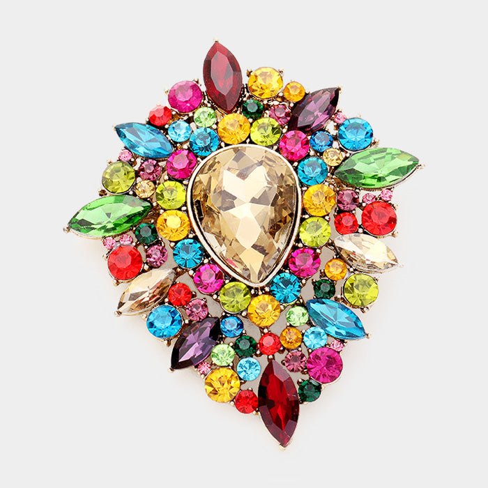 Rainbow Cluster Brooch