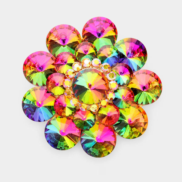 Iridescent Flower Brooch