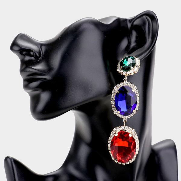 Color Blocked Earrings
