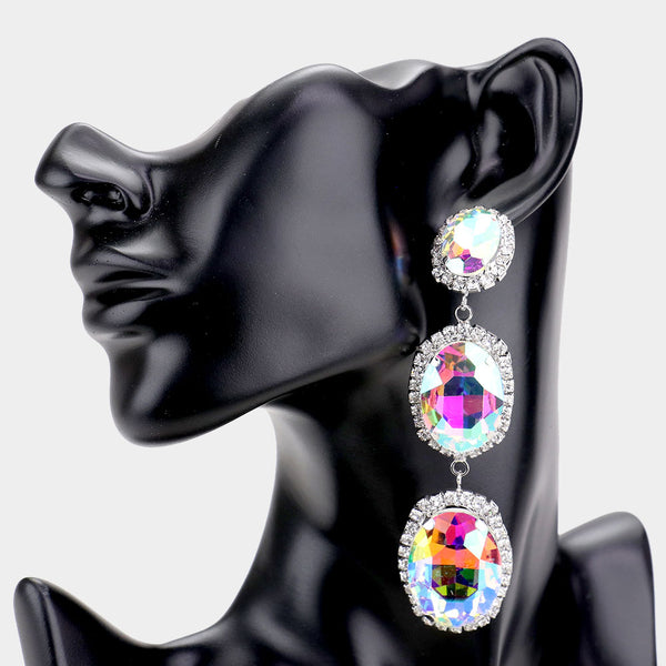 Iridescent tears Earrings