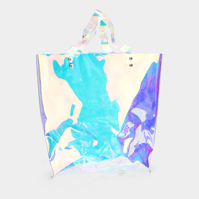 Clear Iridescent Tote Bag