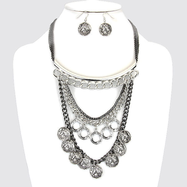 Charon's Obol Necklace & Earrings